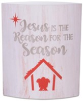 Jesus is the Reason for the Season Paper LED Lantern