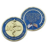 Medical Doctor, Gold Plated Challenge Coin, Psalm 91:1-2