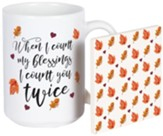 When I Count My Blessings Mug and Coaster Set