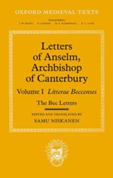 Letters of Anselm, Archbishop of Canterbury: Volume I