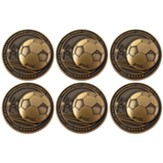Soccer, Gold Plated Challenge Coine, Pack of 6