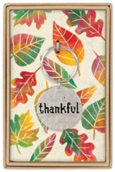 Thankful Boxed Keychain