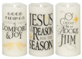 Set of 3 Christmas LED Candles