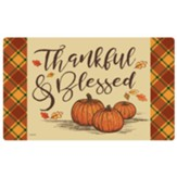 Thankful & Blessed Door Mat