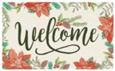 Welcome, Poinsettia, Door Mat