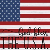 God Bless the U.S.A., Flag, Plaque