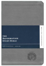 ESV Reformation Study Bible, Condensed Edition, Light Gray Imitation Leather   - Imperfectly Imprinted Bibles