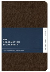 ESV Reformation Study Bible, Condensed Edition - Dark Brown, Premium Genuine Leather