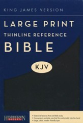 KJV Large Print Thinline Reference Bible Flexisoft Black - Imperfectly Imprinted Bibles
