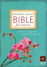 NLT Everyday Matters Bible for Women, Flexisoft Rose/Floral  - Slightly Imperfect