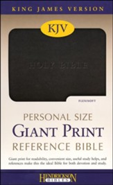 KJV Personal Size Giant Print Reference Bible, imitation leather, black - Slightly Imperfect