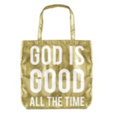 God Is Good Metallic Tote