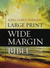 KJV Large Print Wide Margin Bible - Bonded Leather Black