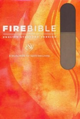 Fire Bible ESV Version, Soft Leather-look, Slate/Charcoal