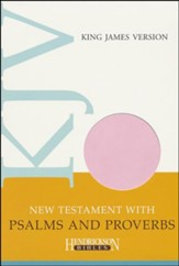 KJV New Testament with Psalms and Proverbs, Flexisoft leather - Light Pink
