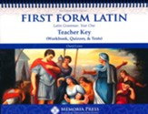 First Form Latin Teacher Key (Workbook, Quizzes, & Tests), 2nd Edition