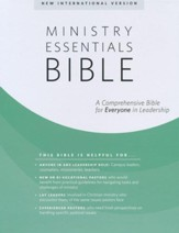 NIV Ministry Essentials Bible,  Flexisoft, Black/Brown