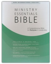 NIV Ministry Essentials Bible, Flexisoft, Brick/Sand