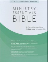 NIV Ministry Essentials Bible-Genuine leather, black