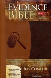 NKJV Evidence Bible, Duo-Tone Brown/Beige - Slightly Imperfect