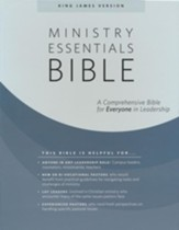 KJV Ministry Essentials Bible,  Genuine Leather, Black