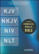 The Complete Evangelical Parallel Bible KJV, NKJV, NIV & NLTse Flexisoft Leather Red/Gray