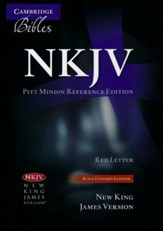 NKJV Pitt Minion Reference Bible Black Goatskin Leather