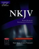 NKJV Wide-Margin Reference Bible--goatskin leather, black