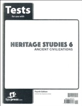 BJU Press Heritage Studies Grade 6 Test Pack (4th Edition)