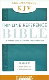 KJV Thinline Flexi Aqua  - Slightly Imperfect