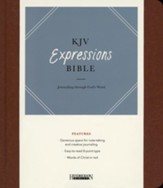 KJV Expressions Bible, Brown Imitation Leather over Board Hardcover - Slightly Imperfect