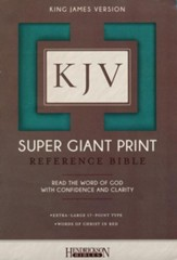 KJV Super Giant Print Reference Bible, Flexisoft Turquoise