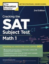 Cracking the SAT Subject Test in Math 1, 2nd Edition
