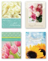 Anniversary, Floral, Cards, Box of 12