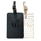 Mr. and Mrs. Luggage Tag Set, 2 Tags