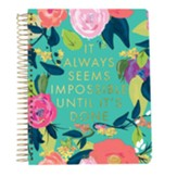 2019 It Always Seems Impossible Until It's Done, 28 Month Planner, Small