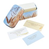 101 Tarjetas de Promesas en Caja de Metal, Pan de Vida  (101 Spanish Promise Cards in Tin, Bread of Life)