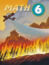 BJU Press Math Grade 6 Student Text,  Third Edition (Updated  Copyright)