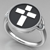 Women's Cross Ring, Sterling Silver, Size 7