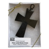 Hanging Wall Cross, Hand Carved Serpentine Stone