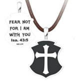 Fear Not Pendant, Sterling Silver with Adjustable Cord