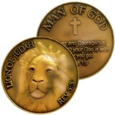 Lion, Man of God Challenge Coin