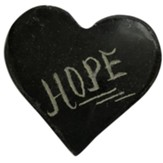 Hope, Pocket Heart Token, Serpentine Stone