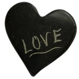Love, Pocket Heart Token, Serpentine Stone