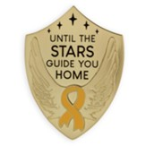 Until the Stars Guide You Home, Yellow Ribbon, Visor Clip, Gold