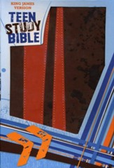 KJV Teen Study Bible Soft  leather-look, burnt orange/fudge