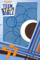 KJV Teen Study Bible Soft leather-look, sky blue/fudge