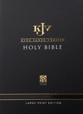 KJV Large-Print Thinline Gift Bible--genuine leather, dark brown - Slightly Imperfect