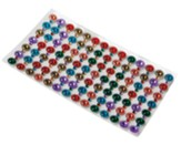 Adhesive Gems, sheet of 98