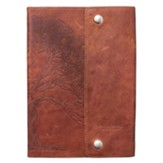 Genuine Leather Journal, Tan with Wrap Closure